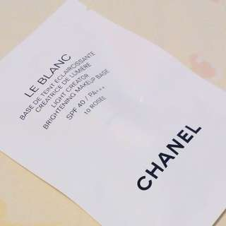 CHANEL LE BLANC LIGHT CREATOR BRIGHTENING MAKEUP BASE/PRIMER WITH SPF 40+++  BLURS PORES & IMPERFECTIONS, ACTS AS A BARRIER TO PROTECT SKIN FROM FOUNDATION/MAKEUP, BRIGHTENS COMPLEXION WITH A GLOW