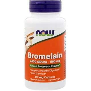 Now Foods, Bromelain, 500 mg, 60 Veg Capsules