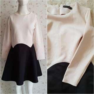 CREAM-BLACK DRESS
