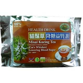 Cat's Whiskers Herb Tea:Kidney & Bladder 猫须草降糖益肾茶:男人不怕老猫烧须