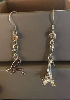 Agnes B. Sterling Silver Earrings & Charm Set (+ accessories)