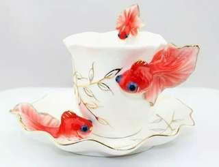 Red GodFish Enamel Porcelain