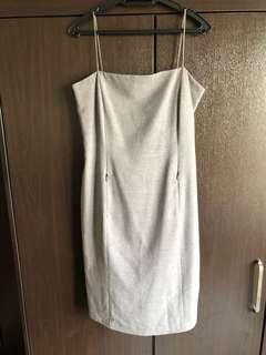 Grey Elle Spaghetti Strap Dress #july70