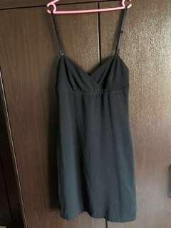 Sexy Black Spaghetti Strap Dress #july70