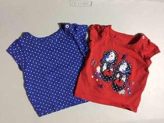 Mothercare Shirt Set 6-9mos
