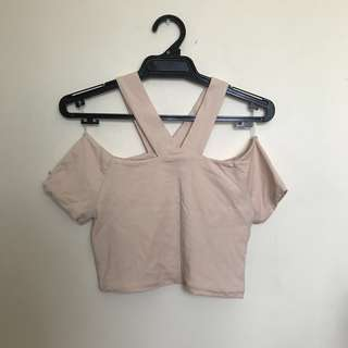 Nude Cotton On Crop top