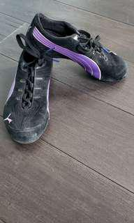 Puma- Black and purple running shoes