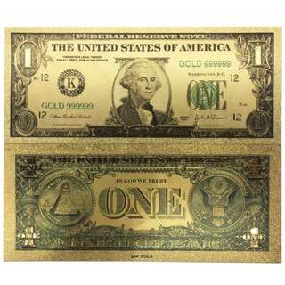 Souvenirs Gift USA 24K Gold Dollar Note For Home Decor & Business Gift