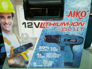 Aiko 12v Battery Screwdriver Drill