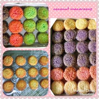 Coconut Macaroons, Banana Muffins and cupcakes