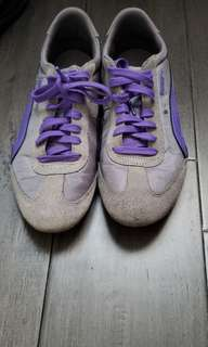 Puma- grey and purple running shoes