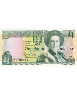 The State of Jersey 1 pound banknote