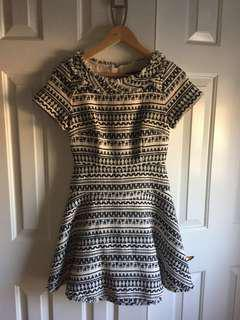Banana Republic B&W embroidered dress