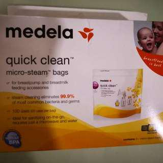 Medela Quick Clean Microwave Bags, 5pc
