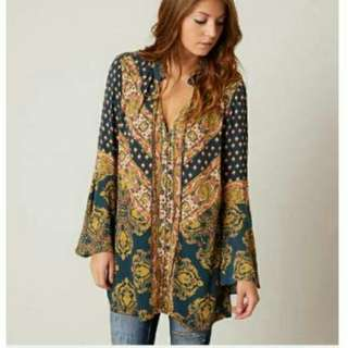 Free People Etchinc Blouse