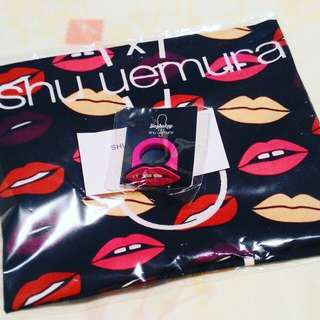 SHU UEMURA LARGE SCARF & RING  ❤ SUPER CUTE DESIGN ❤  COLLECTABLE ❤  RARE - NOT FOR SALE  AT BOUTIQUE  100% AUTHENTIC & BRAND NEW SEALED IN WRAPPER NEVER OPENED  RM30 LIMITED TIME