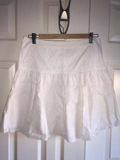 Mango white eyelet skirt