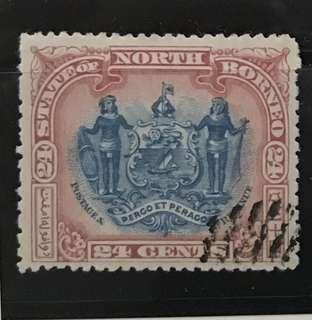 Malaya North Borneo early stamp 24c used