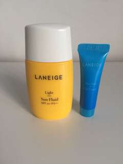 Laneige Sunblock light SPF 50 with free gift