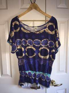 Anthropologie blue top