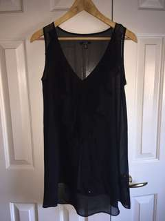Jacob sheer black sleeveless top