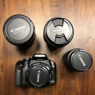 Canon 450D body and various lenses