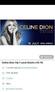 Celine dion vip concert july 19