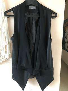 Black chiffon vest