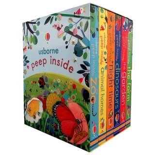 🚚 BN Usborne Peep Inside Collection 6 Books Box Set