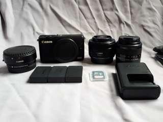 Canon EOS M10 + Kit Lens + Canon EF Lens 50mm 1:1.8 STM +  Mount Adapter EF - EOS M + Bonus