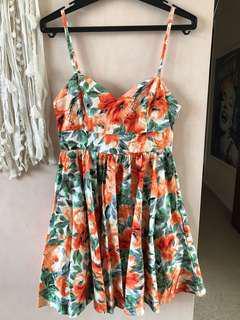 Floral summer dress, size 8