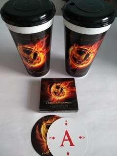50% Hunger Game Cups & Poker Card #july100