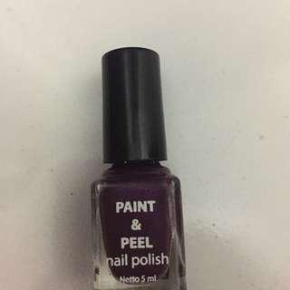Peel nail polish