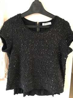 Black and gold top, size 10