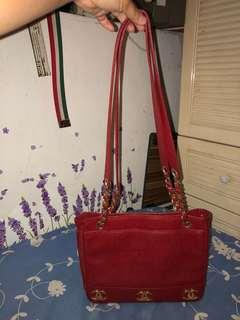 Chanel bag vintage bag 紅色