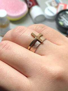 2 Rings Gold and Rose Gold