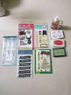 Assorted stamps & ink lot