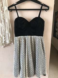 Black and cream dress, size 8
