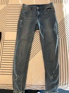 Ally jeans distressed bottoms