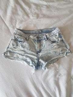 Wakee Denim Shorts Size 10