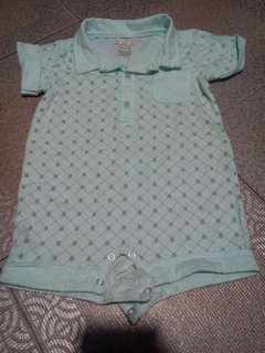 Collared baby onesie