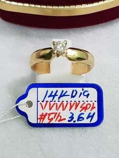 14k w/ dia Ring's