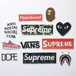 Stiker Supreme Vans Bape Package 3