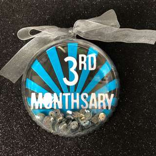 Monthsary shaker ornament