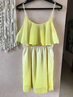 Yellow, white ombré summer dress size 8