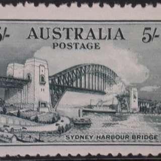 Syduey harbour bridge 5/- mint