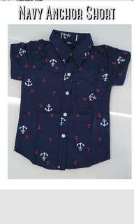 Navy Anchor Short Sleeve