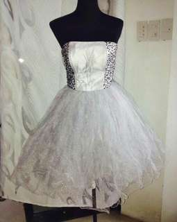 Gray sequenced dress