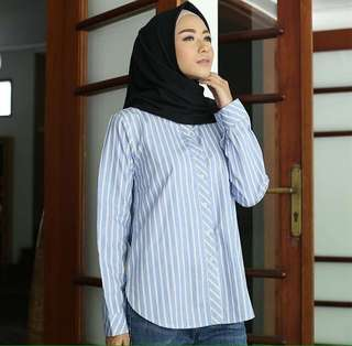 Lights Clo Sienna Blouse - Baby Blue