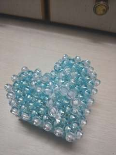 Handmade heart shape jewellery Box. Customize to your favourite colours.